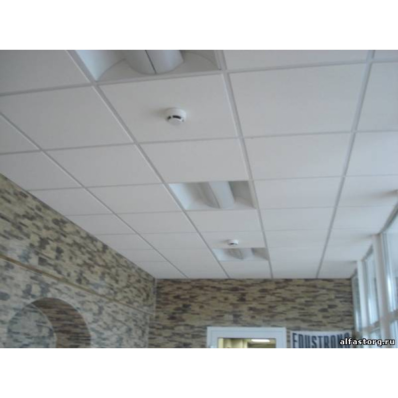 Потолок армстронг с плитой ритейл тегулар (retail tegular) 6.